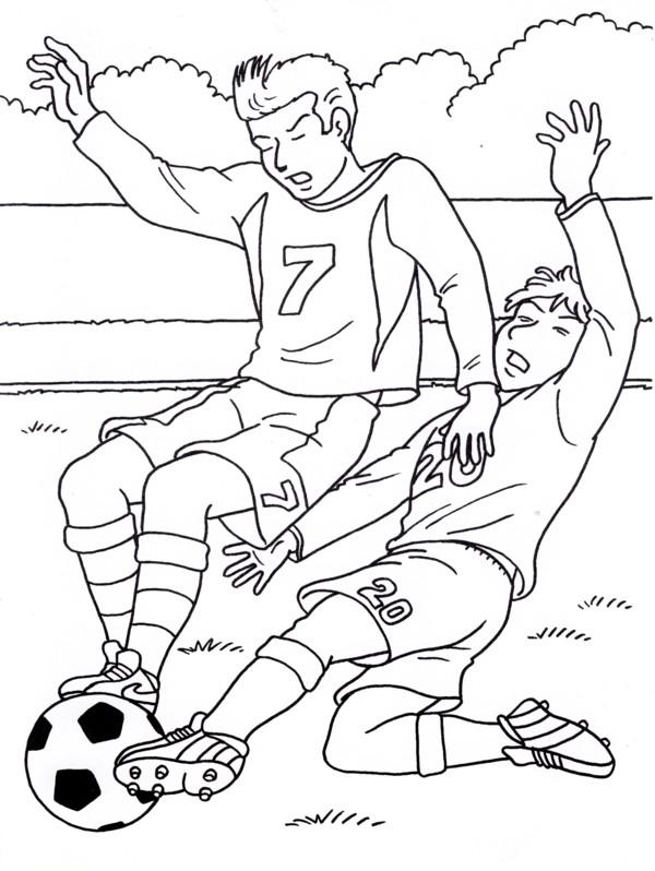 calcio 7 disegni per bambini da colorare