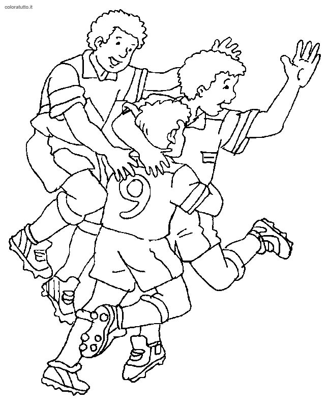 Calcio disegni per bambini da colorare for Calciatori da colorare per bambini