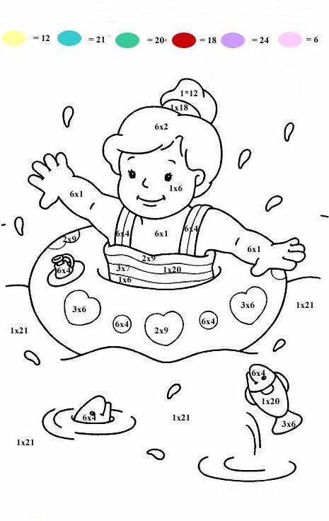 Calcola colora 2 disegni per bambini da colorare for Casa immagini da colorare