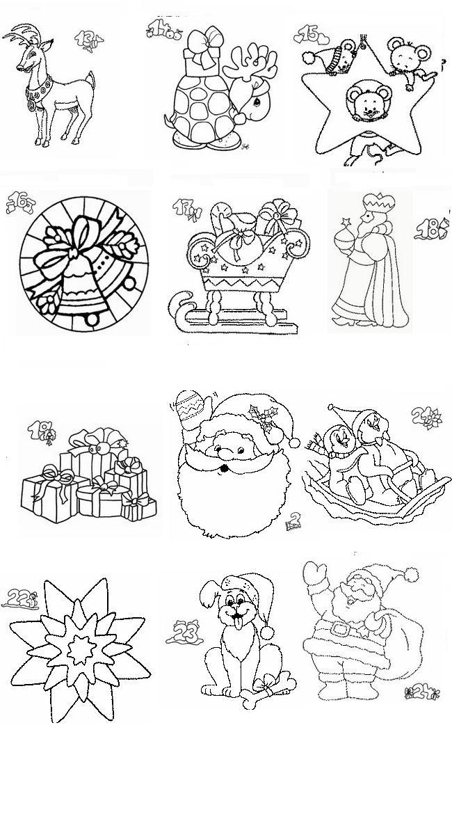 Top Calendario Natale, Disegni per bambini da colorare RP06