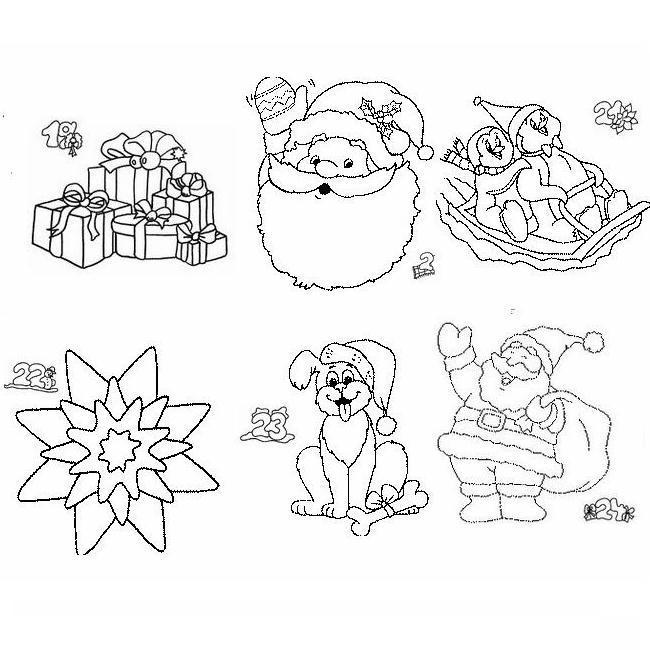 Natale Disegno Da Colorare.Calendario Natale Disegni Per Bambini Da Colorare