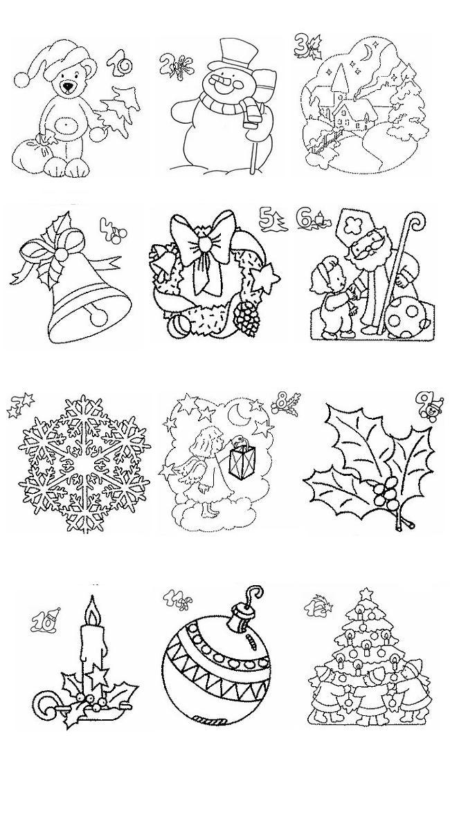 Calendario Da Colorare.Calendario Natale Disegni Per Bambini Da Colorare