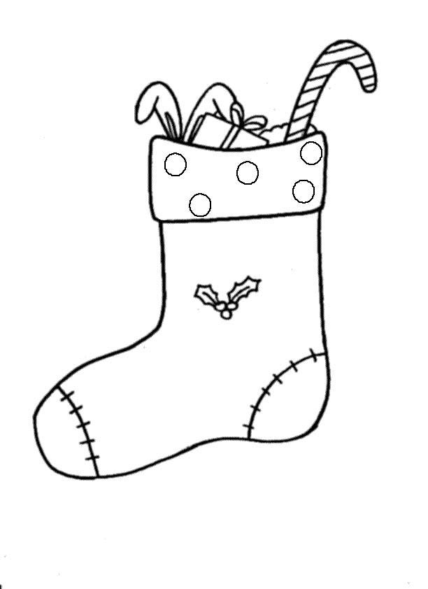 Calza natale 3 disegni per bambini da colorare for Calza della befana da colorare