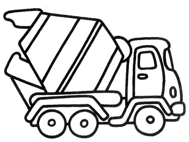 Camion 2 Disegni Per Bambini Da Colorare