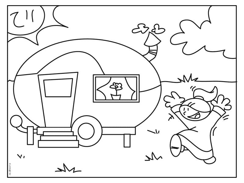 Camping disegni per bambini da colorare for Immagini estate da colorare