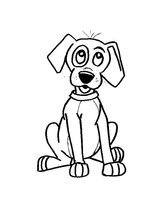 Cani 3 disegni per bambini da colorare for Disegno cane per bambini