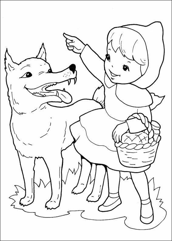 Cappuccetto rosso disegni per bambini da colorare for Cappuccetto rosso da colorare