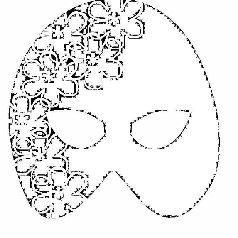 Le creazioni di eleonora maschere da colorare for Immagini maschere carnevale da colorare