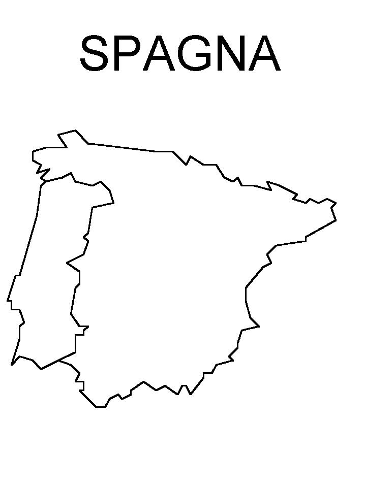 Cartina Muta Della Spagna Da Completare.Cartine 15 Disegni Per Bambini Da Colorare