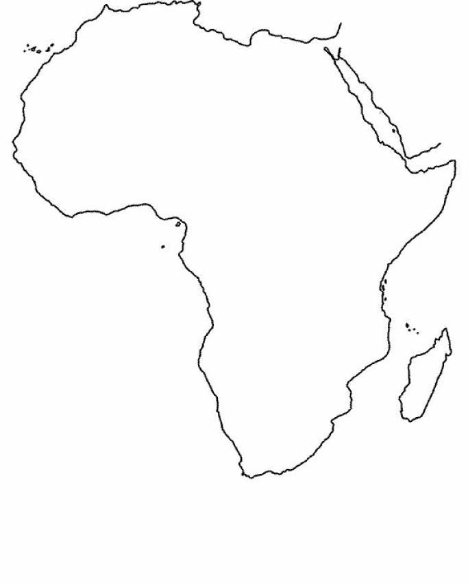 Cartina Dell Africa In Bianco E Nero.Disegni Cartine Geografiche 1 Disegni Per Bambini Da Stampare E Colorare By Colora Tutto It