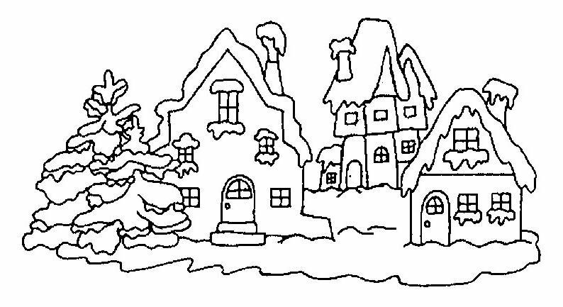 Case disegni per bambini da colorare for Paesaggi semplici da disegnare