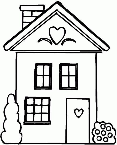 Case disegni per bambini da colorare - Disegni di casa da colorare per bambini ...