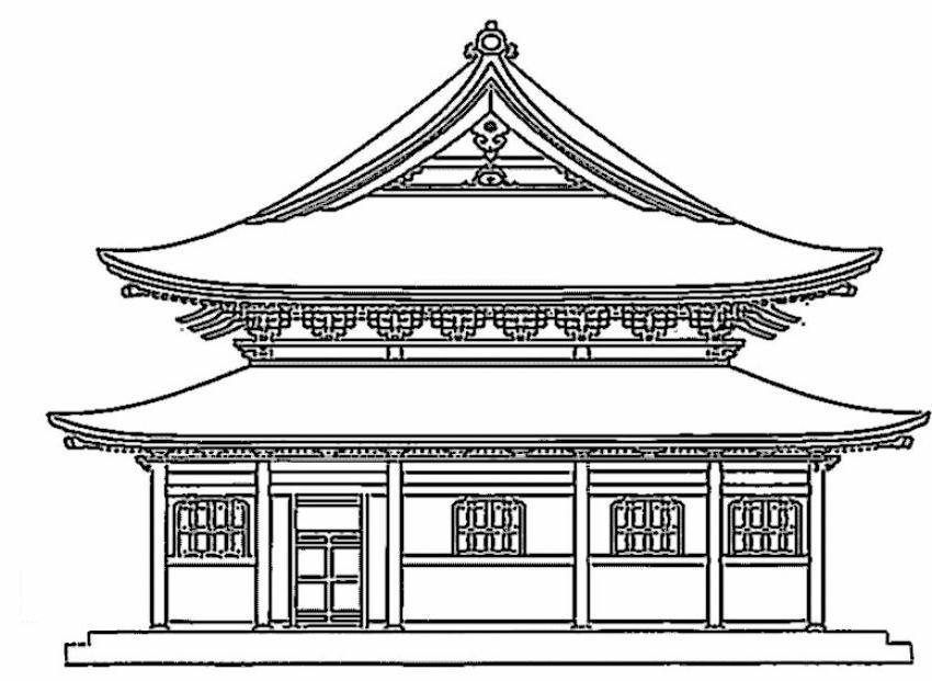 Case 6 disegni per bambini da colorare for Architettura tradizionale giapponese