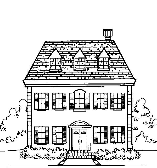case, disegni per bambini da colorare - Disegni Case Bambini