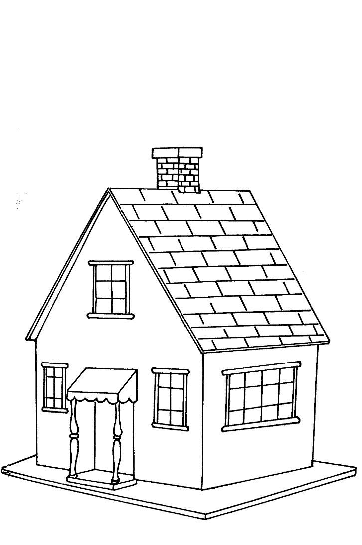 Case disegni per bambini da colorare for Disegni da colorare di case