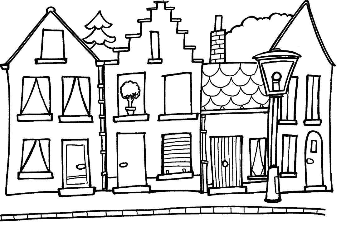 Case 2 disegni per bambini da colorare - Disegno finestra da colorare ...