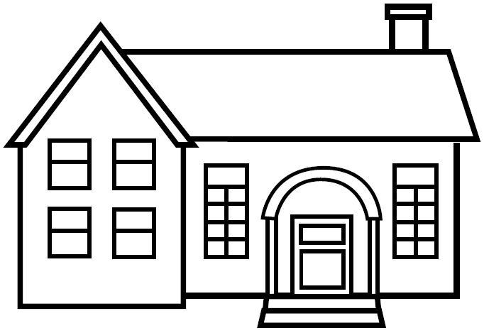 Case 7 disegni per bambini da colorare for Fachadas de casas modernas para colorear