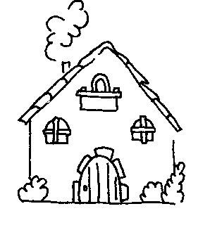 Case 7 disegni per bambini da colorare - Disegni di casa da colorare per bambini ...