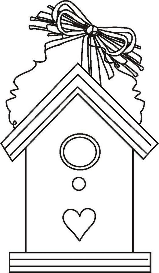 Casette uccellini 5 disegni per bambini da colorare for Immagini di casette da colorare