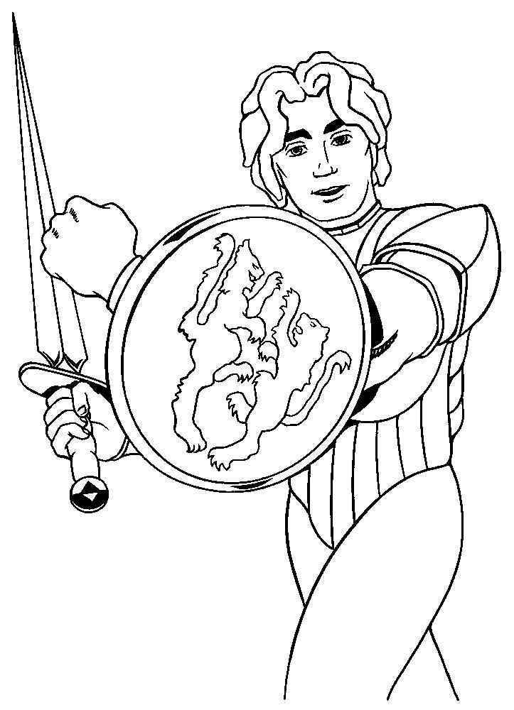 Cavalieri disegni per bambini da colorare - Cavaliere libro da colorare ...