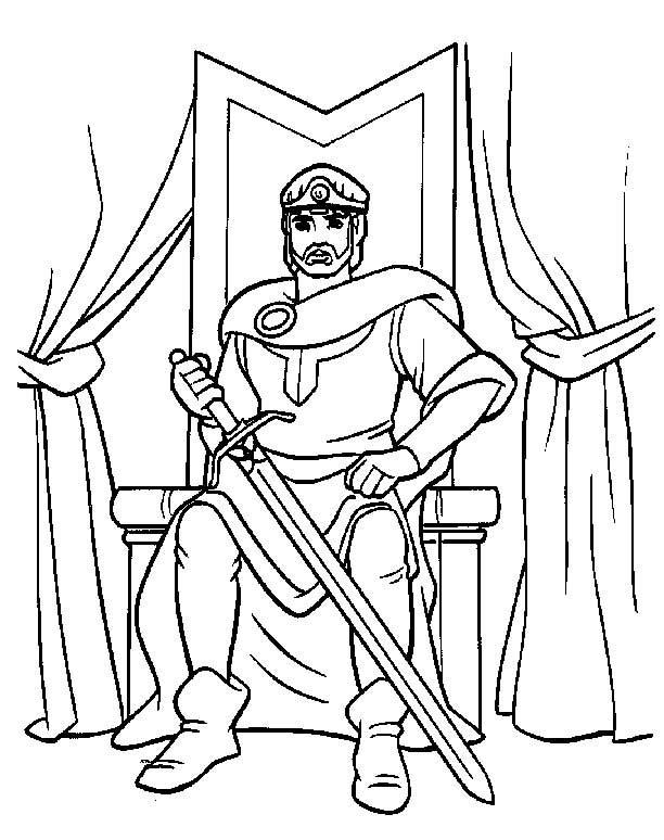 Cavalieri disegni per bambini da colorare for Quest for camelot coloring pages