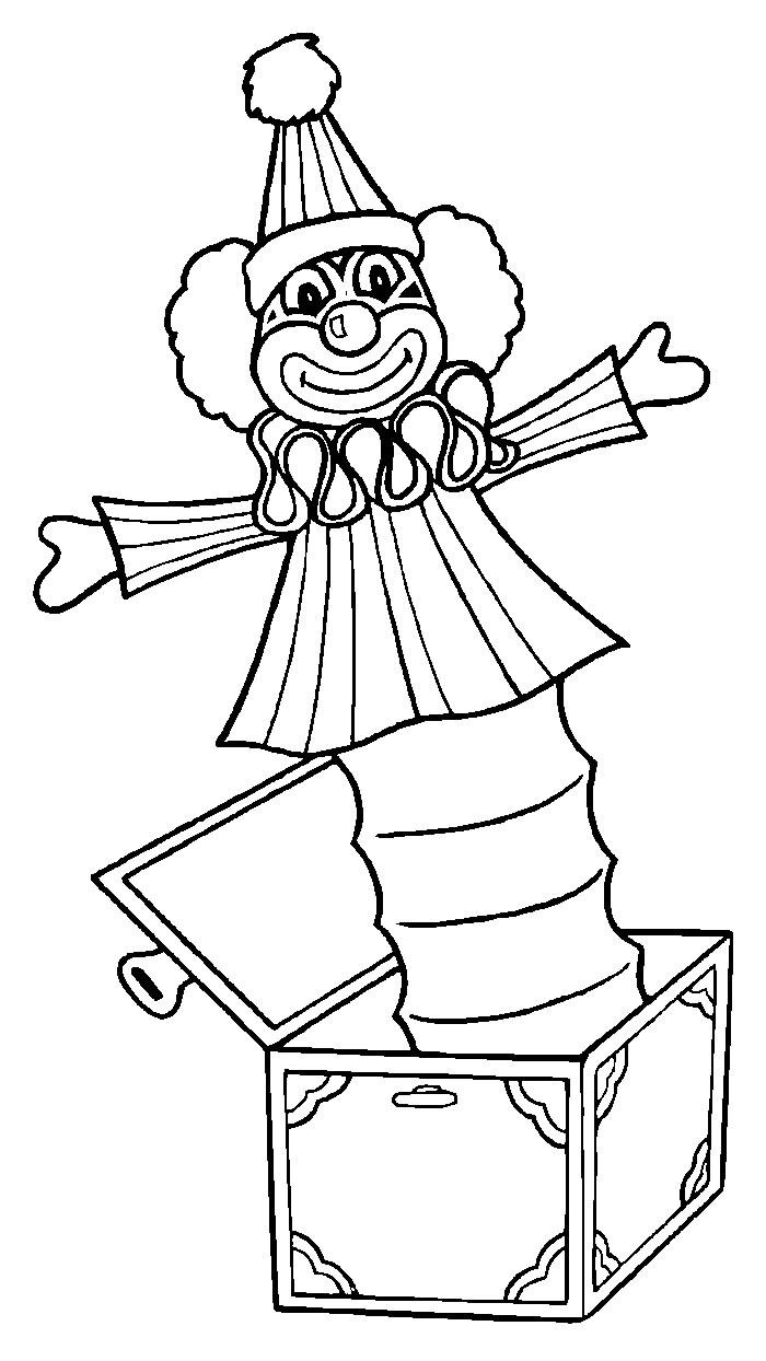 Circo disegni per bambini da colorare for Immagini di clown da colorare