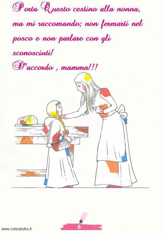 Favorito DISEGNI FIABA DA COLORARE CAPPUCCETTO ROSSO 1, disegni per bambini  AT44