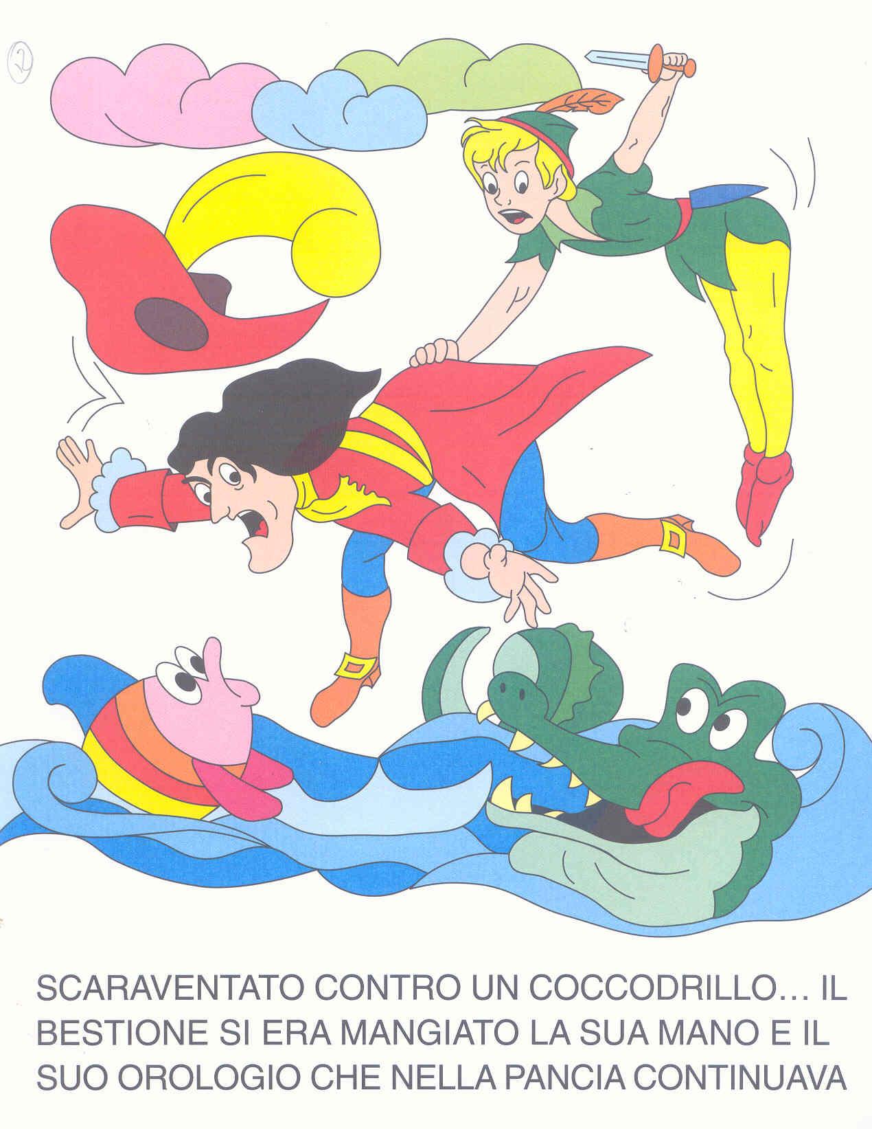 Colora fiaba peter pan disegni per bambini da colorare for Disegni peter pan