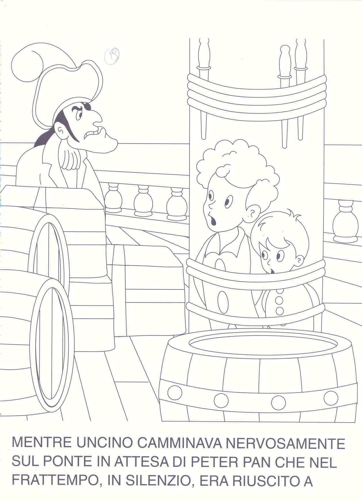 Colora fiaba peter pan 2 disegni per bambini da colorare for Stampa e colora peter pan