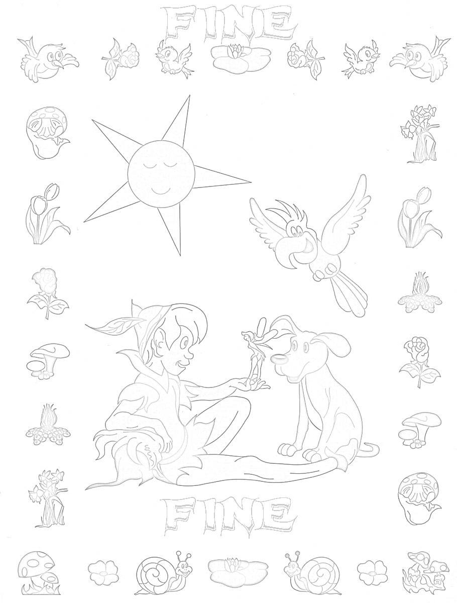 Colora fiaba peter pan 3 disegni per bambini da colorare for Stampa e colora peter pan