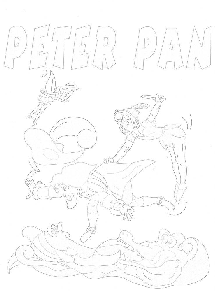 Colora fiaba peter pan 4 disegni per bambini da colorare for Stampa e colora peter pan