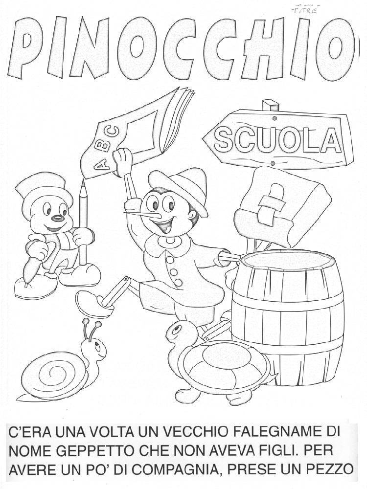 Preferenza Colora Fiaba Pinocchio, Disegni per bambini da colorare EG76