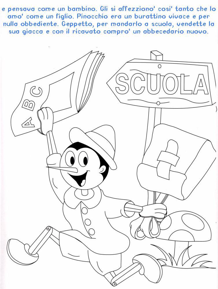 Colora fiaba pinocchio 2 disegni per bambini da colorare for Immagini di casette da colorare