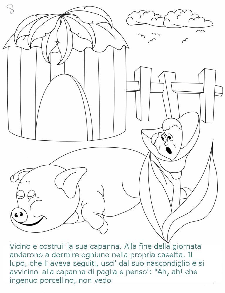 Colora fiaba tre porcellini 2 disegni per bambini da colorare for E case del sater