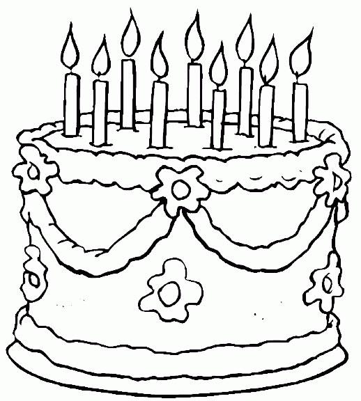 Compleanno Disegni Per Bambini Da Colorare