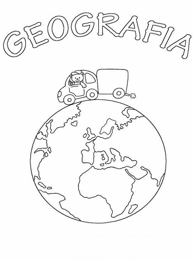 Copertine quaderni 2 disegni per bambini da colorare - Immagine da colorare della terra ...