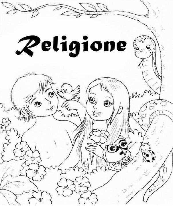 Copertine quaderni disegni per bambini da colorare - Pagina da colorare di una bibbia ...