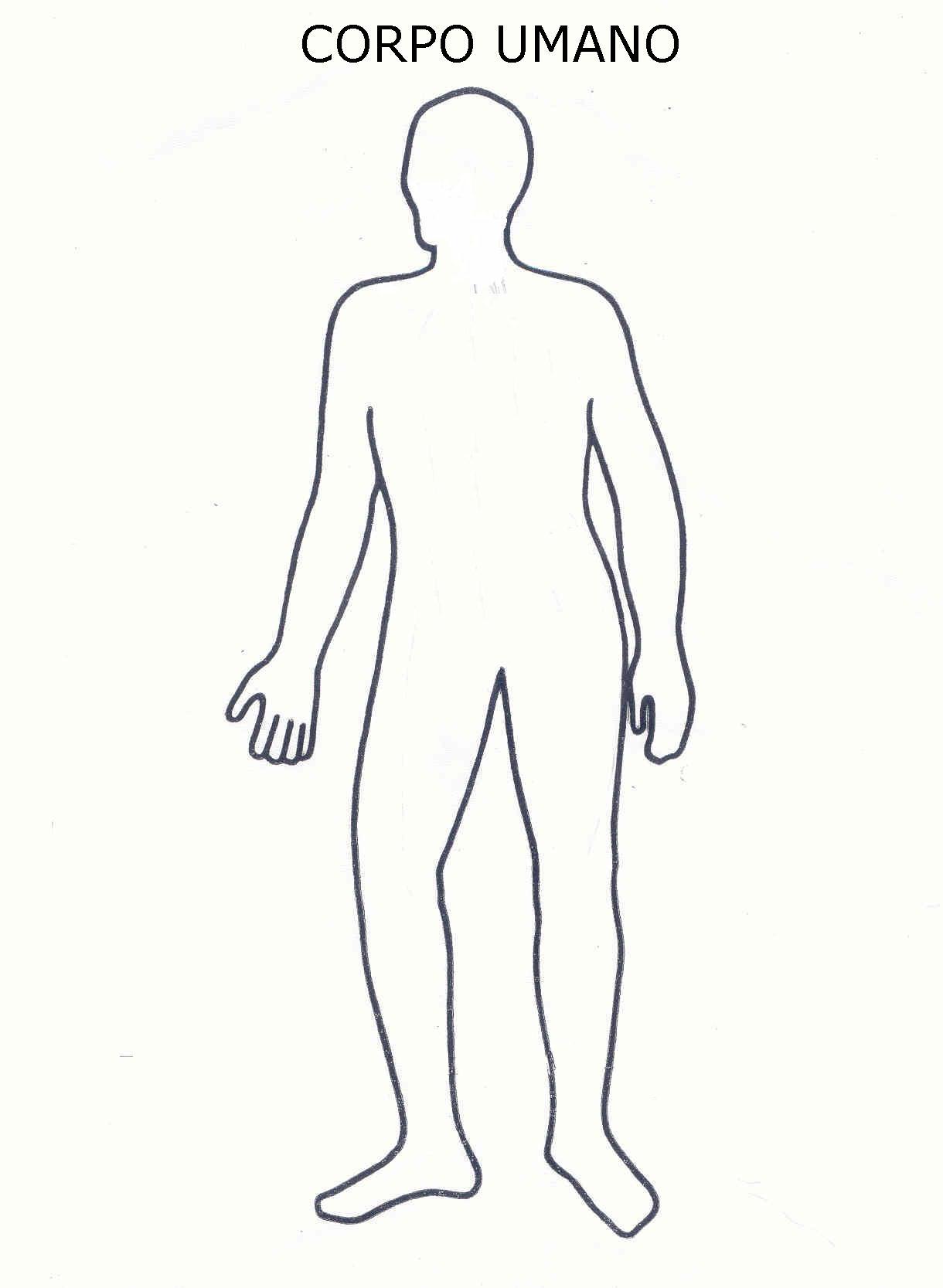 spesso Corpo Umano, Disegni per bambini da colorare GW48