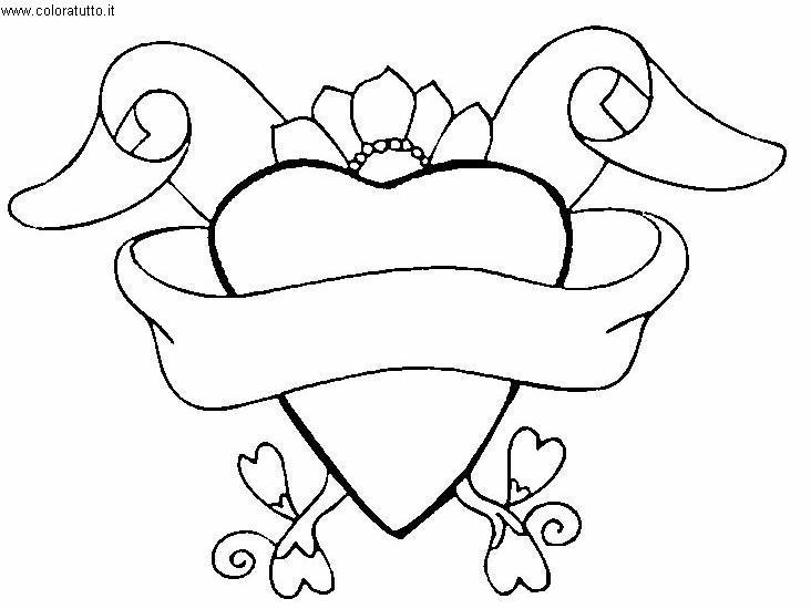 Cuori 4 disegni per bambini da colorare for Disegni da colorare dei cuori