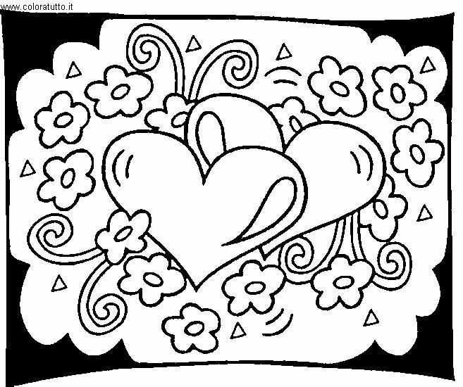 Cuori disegni per bambini da colorare for Disegni per mosaici da stampare