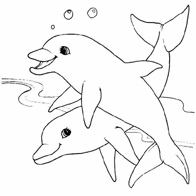 Delfini Da Stampare E Colorare.Delfini 4 Disegni Per Bambini Da Colorare