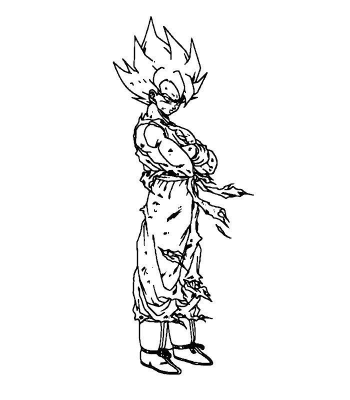 Una Raccolta Di Popolare Immagini Goku Da Colorare Disegni Da