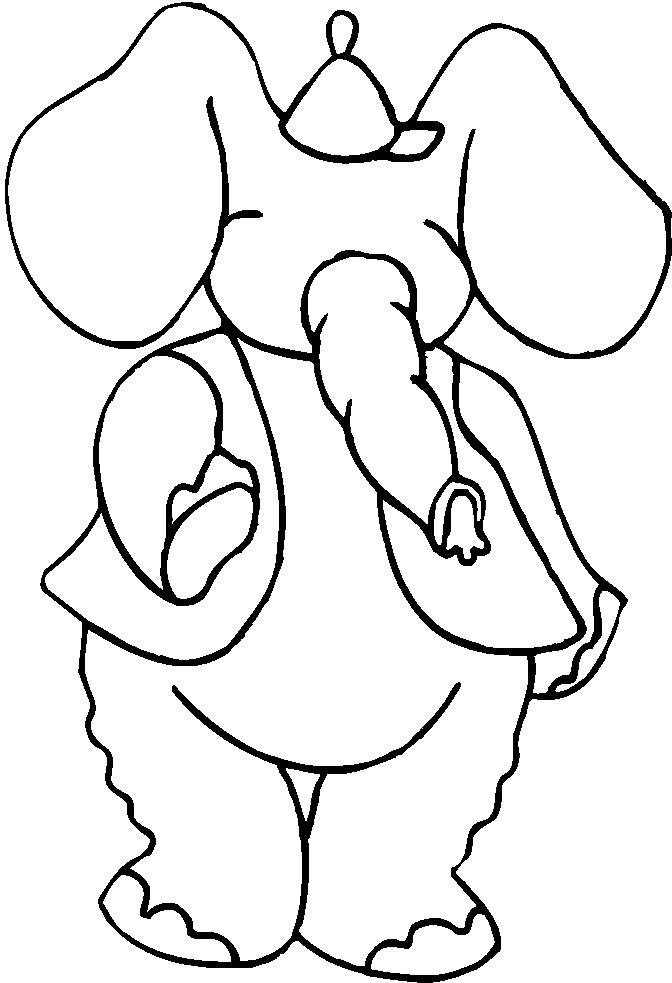 Elefanti 10 disegni per bambini da colorare - Ragazzi da colorare in immagini ...