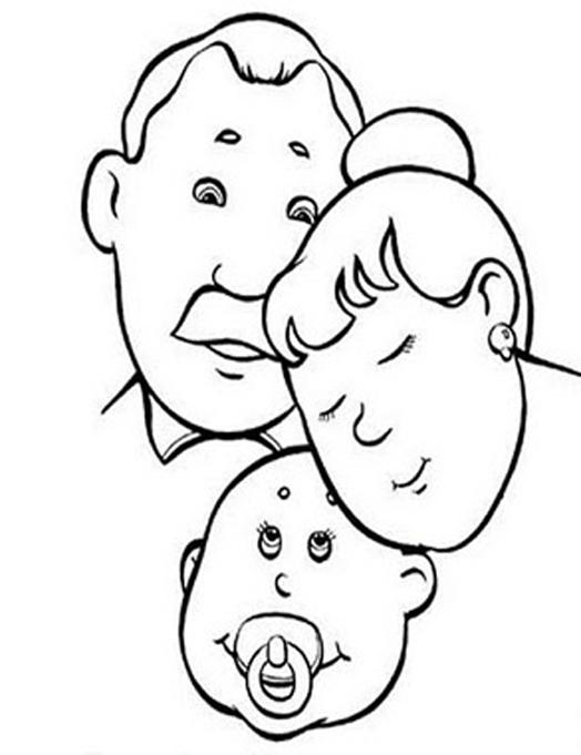 Preferenza Famiglia, Disegni per bambini da colorare AC17