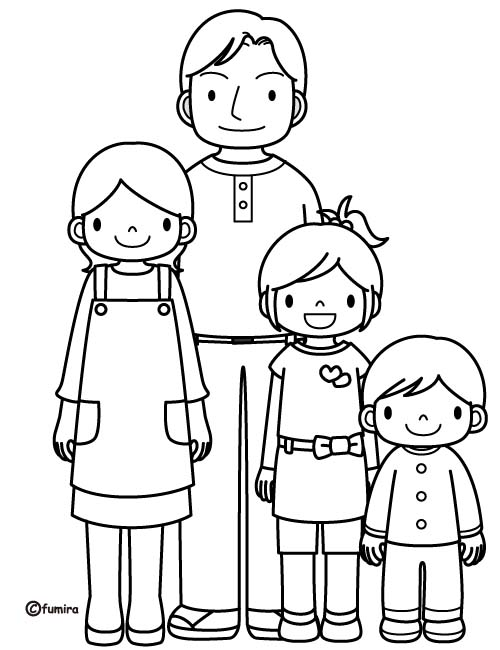 Famiglia 9 Disegni Per Bambini Da Colorare