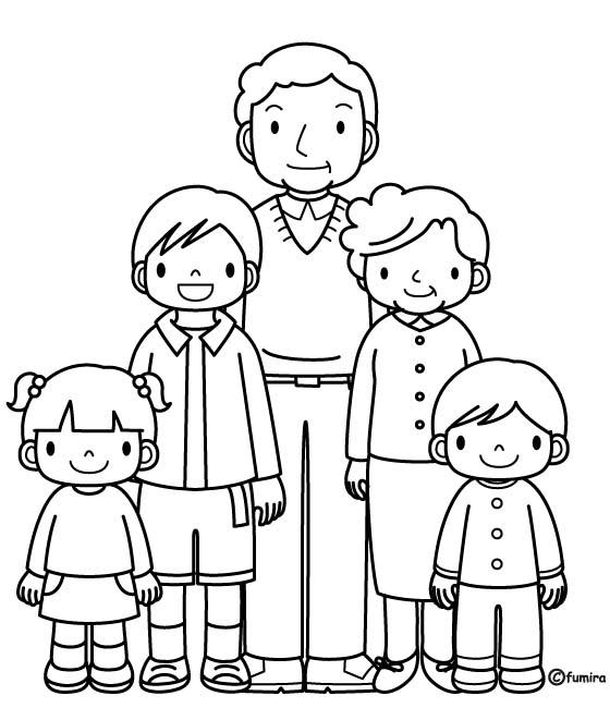 Famiglia 12 Disegni Per Bambini Da Colorare