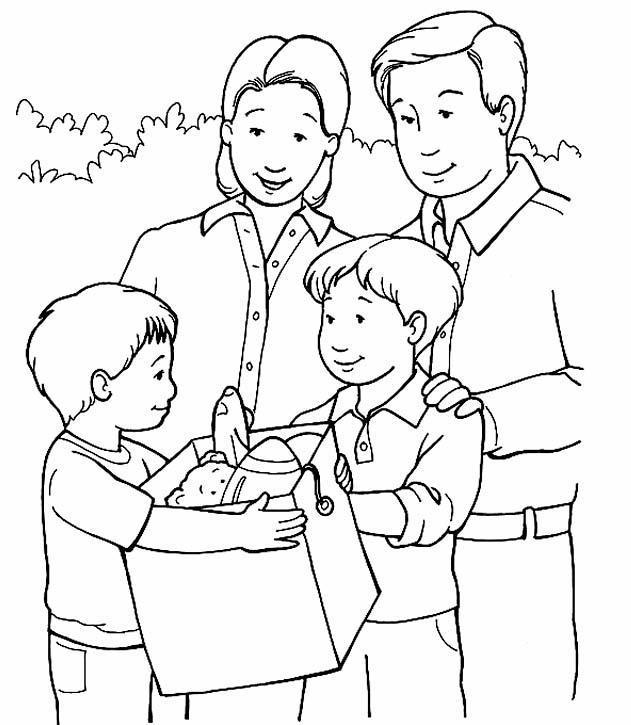 Famiglia 15 Disegni Per Bambini Da Colorare