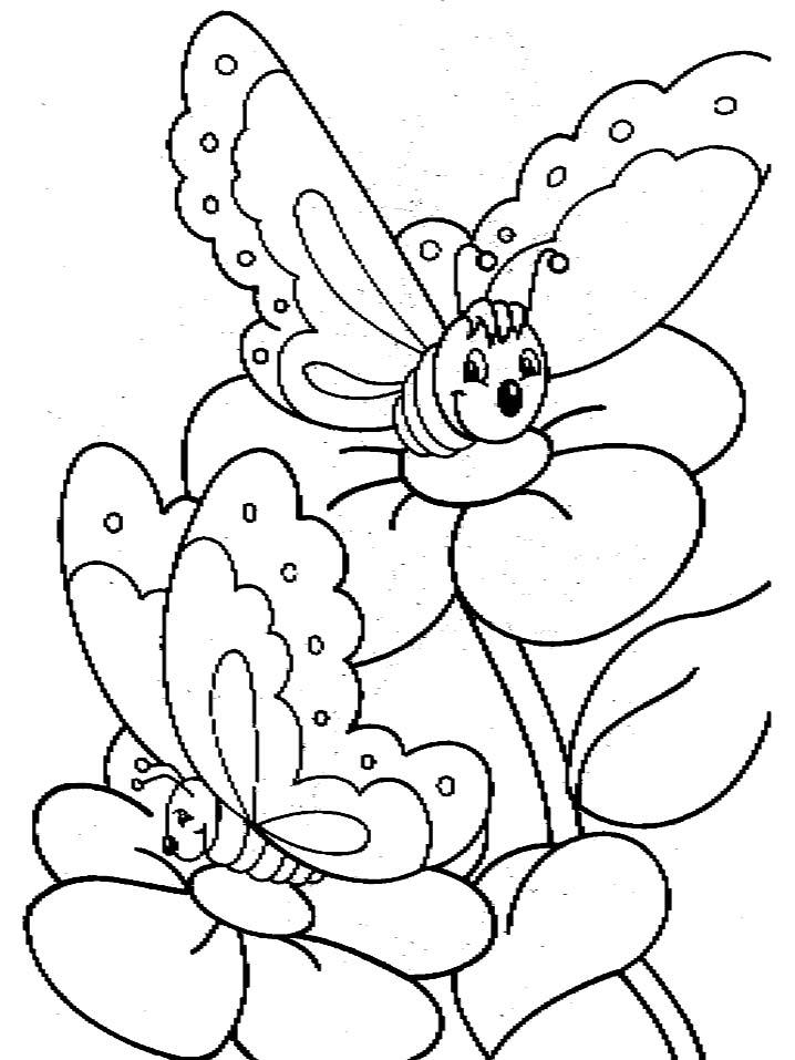 Farfalle 4 Disegni Per Bambini Da Colorare