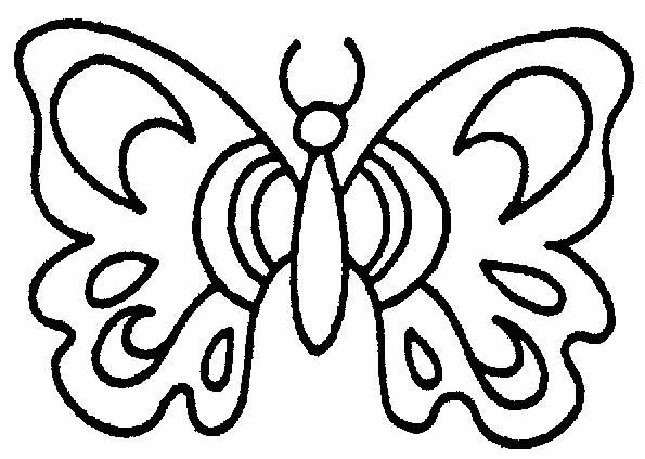 Farfalle 5 disegni per bambini da colorare for Immagini farfalle da ritagliare
