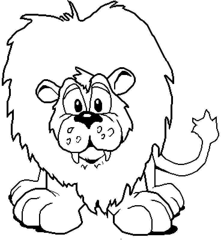 Felini 6 disegni per bambini da colorare - Immagini di animali dello zoo per bambini ...